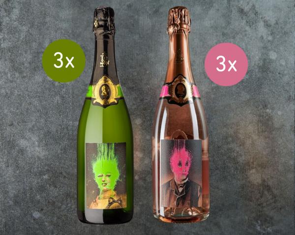 Célestine und Étienne in der Kiste 6 Flaschen