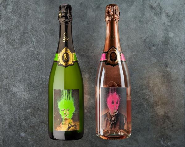Célestine und Étienne in der Kiste 2 Flaschen