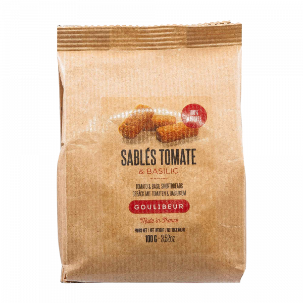 Sablés bretonisches Buttergebäck Tomate