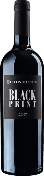 Black Print Rotwein